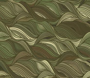 Vector wave background of drawn lines Royalty Free Stock Image