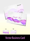 Vector- wave background visiting card. Vector- elegant wave background business card Royalty Free Stock Images