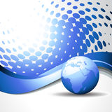 Vector wave blue earth Stock Images