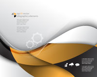 Vector wave elements infographics concept background Royalty Free Stock Photography