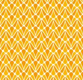 Vector Wave Geometric Seamless pattern. Stylish abstract art deco texture.Vector Classic Floral art nouveau Seamless pattern. Styl. Classic Orange Art Deco Royalty Free Stock Photography