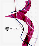 Vector wave lines abstract background. Colorful modern geometric template Royalty Free Illustration