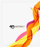 Vector wave lines abstract background. Colorful modern geometric template Royalty Free Stock Photography