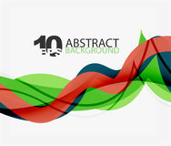 Vector wave lines abstract background. Colorful modern geometric template Vector Illustration