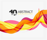 Vector wave lines abstract background. Colorful modern geometric template Royalty Free Stock Photo