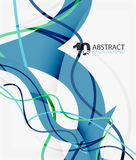 Vector wave lines abstract background. Colorful modern geometric template Stock Image