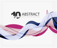 Vector wave lines abstract background Stock Photo