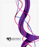 Vector wave lines abstract background. Colorful modern geometric template Stock Photos