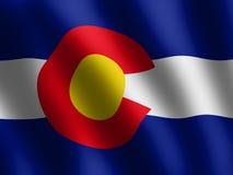 Vector waving Flag of Colorado Royalty Free Stock Photography