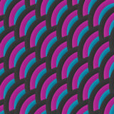 Vector wavy abstract tricolor background. Stock Photography