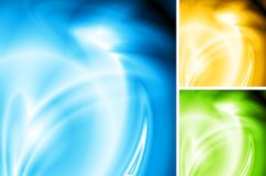 Vector wavy backgrounds Royalty Free Stock Image