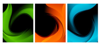Vector Wavy Backgrounds Set Stock Photo