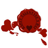 Vector wax heart Royalty Free Stock Photos