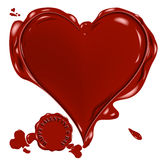 Vector wax heart Stock Image