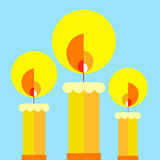 Vector wax illustration fire candle flame candlelight Royalty Free Stock Photo
