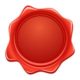 Vector wax red seal. Vector illustration Royalty Free Stock Photography