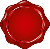 Vector wax seal Stock Image