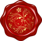 Vector wax seal Royalty Free Stock Images