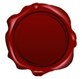 Vector wax seal. On white Royalty Free Stock Photo
