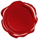Vector wax seal. Red vector wax seal on white background Stock Photos