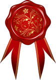 Vector wax seal with a ribbon Stock Photography