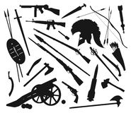 Vector weapons mix Royalty Free Stock Images