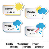 vector weather banners Royalty Free Stock Photo