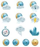 Vector weather forecast icons. Part 2 Stock Photography