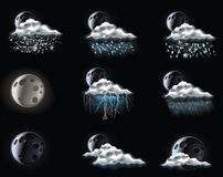 Vector Weather Forecast Icons. Part 3 Stock Photo