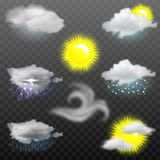 Vector weather forecast icons Royalty Free Stock Photos