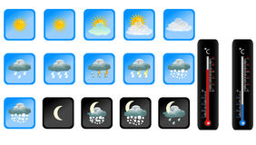 Vector weather icon Royalty Free Stock Image