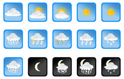 Vector weather icon Royalty Free Stock Images