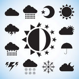 Vector weather icon in black and white Stock Photos