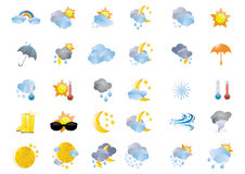 Vector-weather-icon-illustration Stock Photo