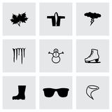 Vector Weather icon set Stock Photography