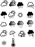 Vector weather icon Royalty Free Stock Photo