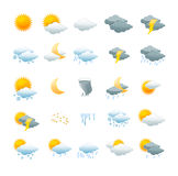 Vector weather icon set Royalty Free Stock Images