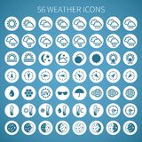 Vector weather icon set for widgets and sites.  Royalty Free Stock Images
