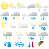 vector weather icons Royalty Free Stock Photography