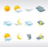 Vector weather icons Royalty Free Stock Photos