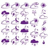 Vector Weather Icons Collection Royalty Free Stock Image