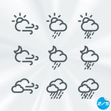Vector Weather Icons Collection Royalty Free Stock Photography