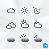 Vector Weather Icons Collection Stock Photography