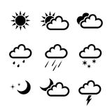 Vector weather icons collection Stock Photo