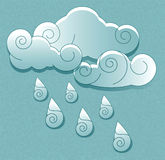 Cloud with rain drops Royalty Free Stock Photography