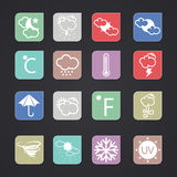 Vector weather icons Stock Image