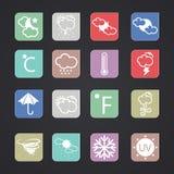 Vector weather icons. Set eps 10 Stock Image