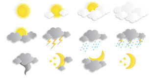 Vector weather icons Royalty Free Stock Images