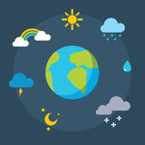Vector weather icons Stock Photos