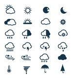 Vector of Weather icons set. Vector weather icons set on white background Royalty Free Stock Photos